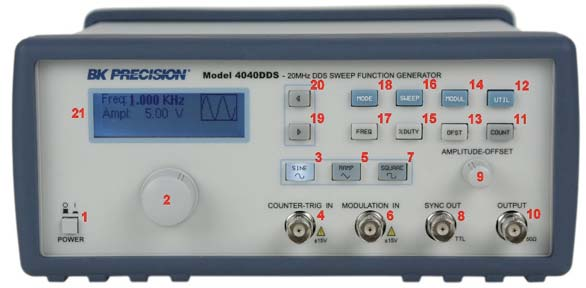 Function Amp Arbitrary Waveform Generator Guidebook B Amp K